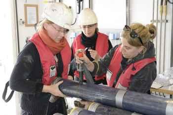 muestras de sedimentos del lecho marino