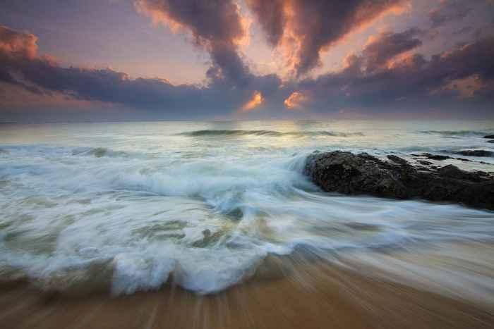nubes y oceáno