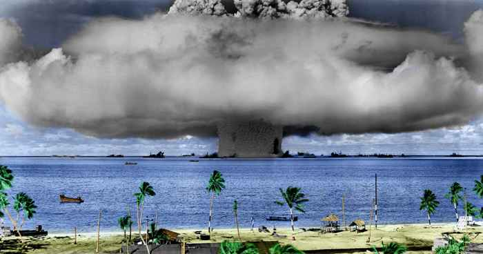 prueba nuclear en el Atolón Bikini