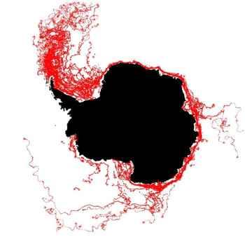 seguimiento de icebergs por la ESA