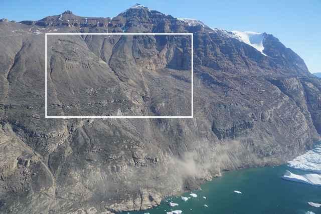 deslizamiento de tierra que generó un tsunami en Groenlandia