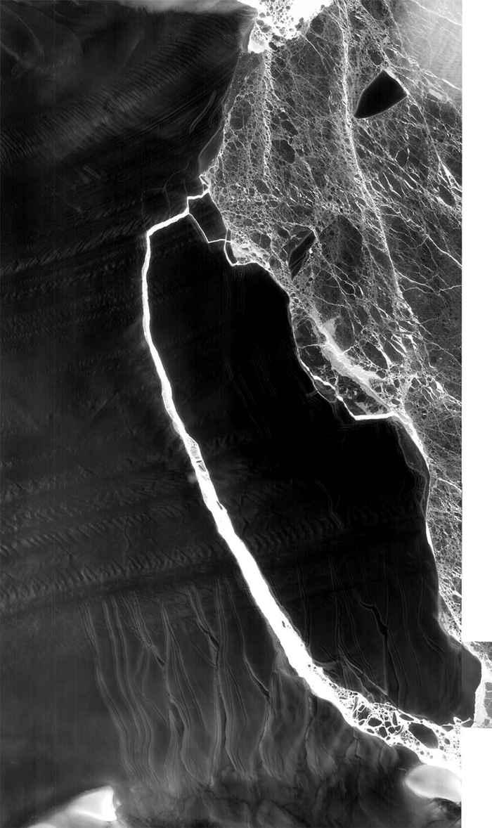 iceberg A68 visto en infrarrojo