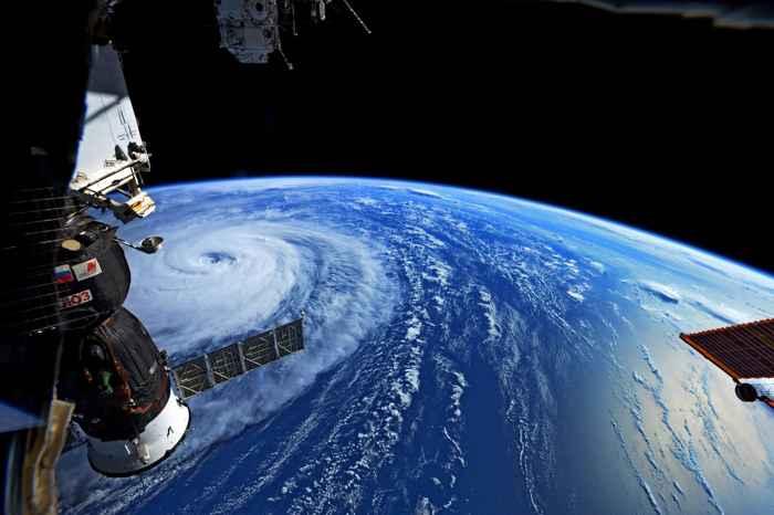 tifón Noru desde la ISS