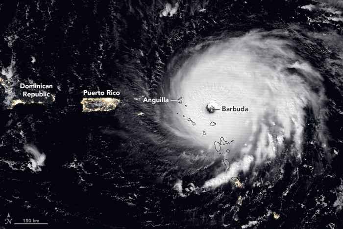 Irma sobre Barbuda