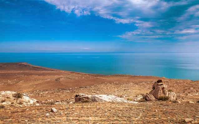evaporación de agua en el Mar Caspio