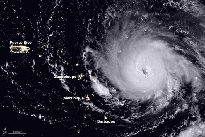 el huracán Irma desde satélite
