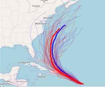 huracán María, trayectoria prevista