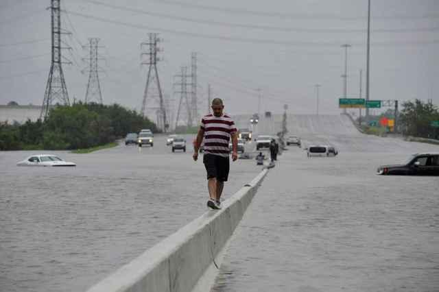 inundaciones producidas por el huracán Harvey