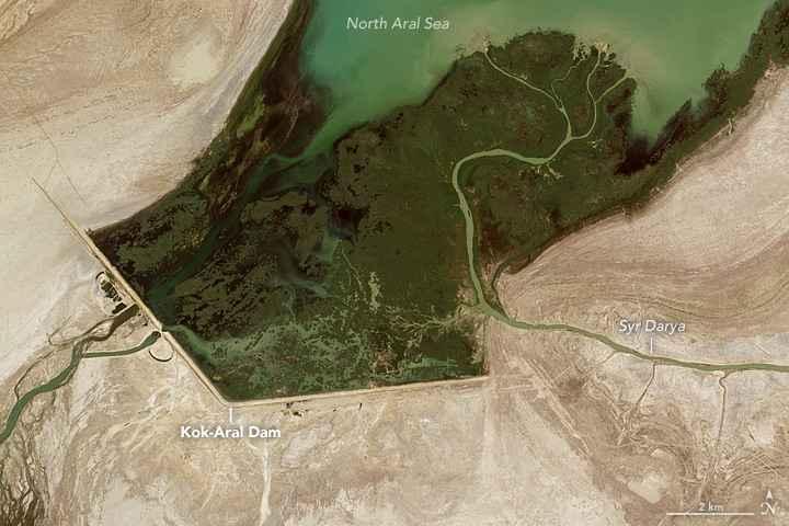 presa Kok Aral detalle