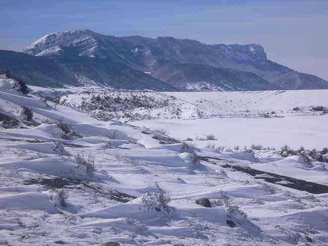 Huesca con nieve