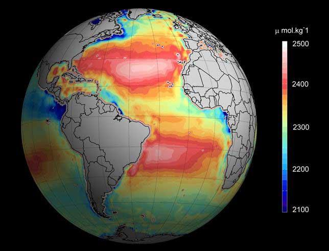 acidificación de los océanos desde satélite