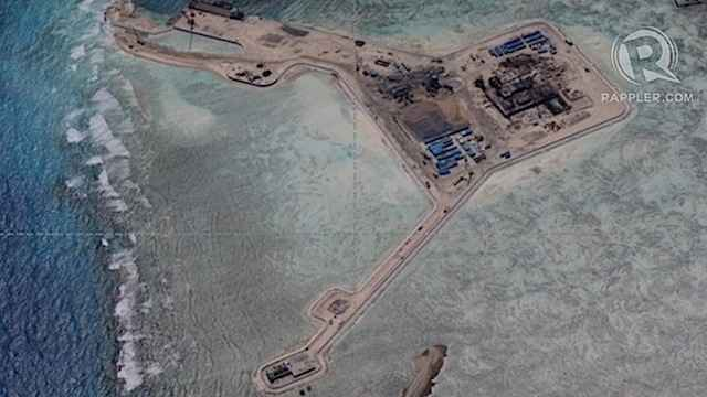 actividades de China en el arrecife Gaven