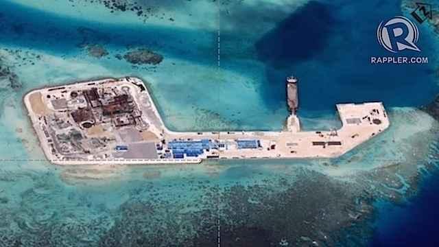 actividades de China en el arrecife Keenan