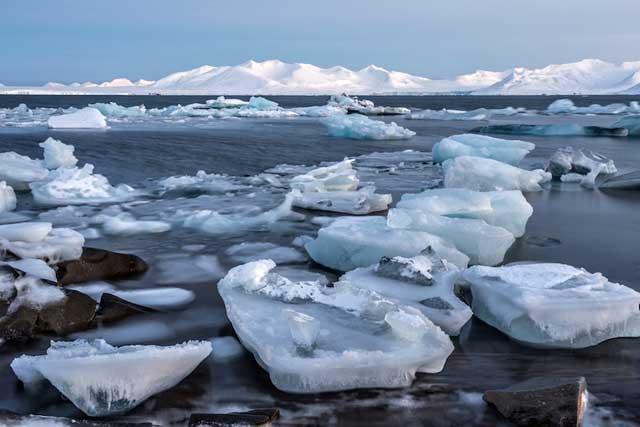 adelgazamiento del hielo marino en el Ártico