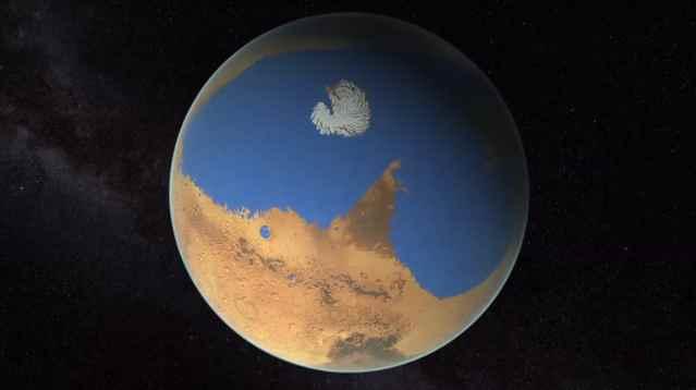 antiguos océanos en Marte