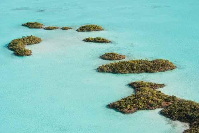 Chalk Sound en las islas Providenciales