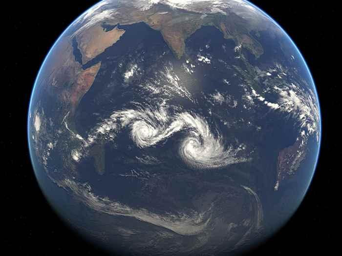 Ciclones tropicales gemelos diamondra y Eunice