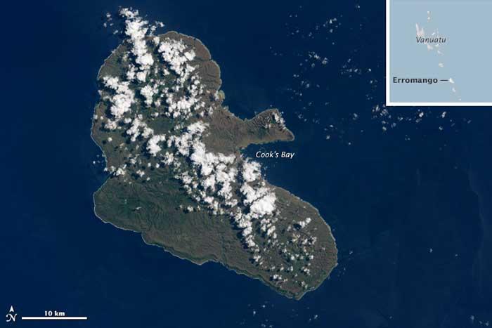 isla de Erromango el 17-03-2015, después del ciclón Pam