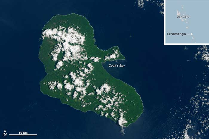 isla de Erromango el 28-01-2015, antes del ciclón Pam