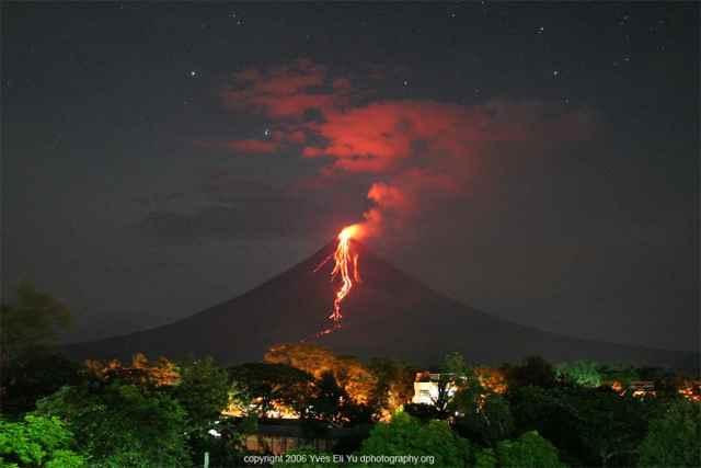 erupción del volcán Mayon, Filipinas