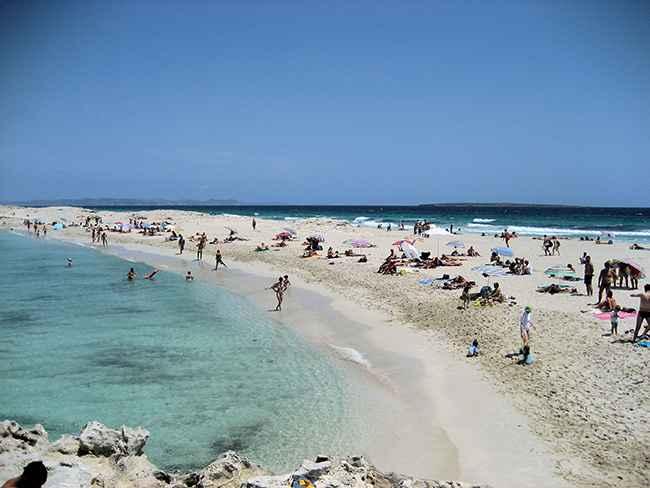 una playa de Formentera