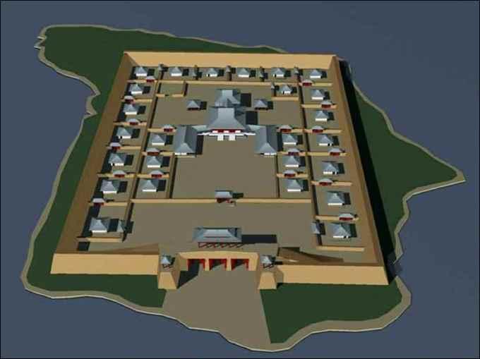 fortaleza Por-Bajin, reconstrucción 3D