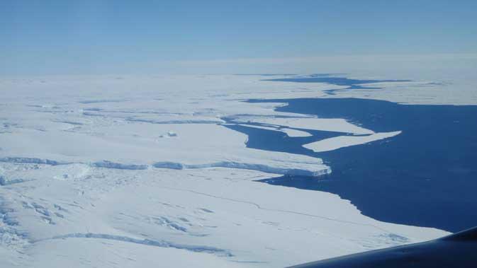 foto aérea del Glaciar Totten de la Antártida