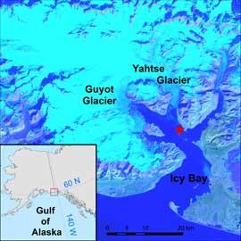 mapa de Icy Bay, Alaska