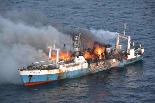 incendio del pesquero ruso Kai Xin