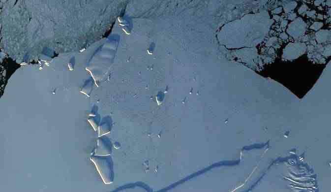 línea de costa de la Antártida oriental