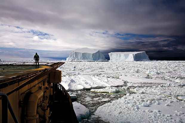 mirando icebergs