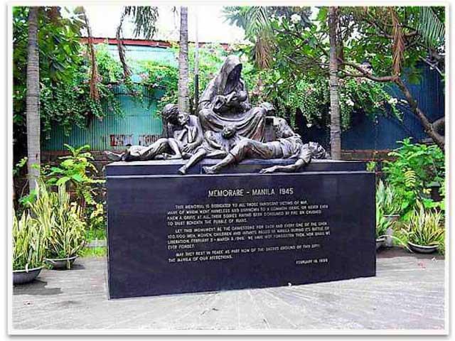 monumento a los civiles muertos en la batalla de Manila, 1945