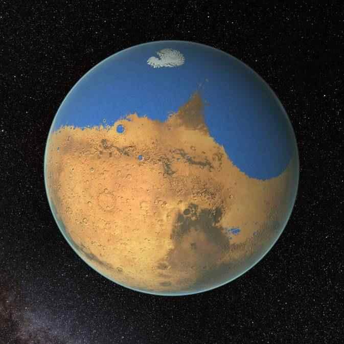 antiguo océano en Marte según la NASA