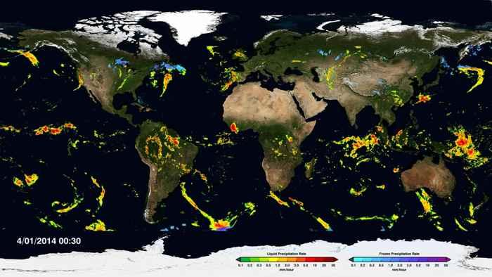 precipitaciones globales de la lluvia y la nieve