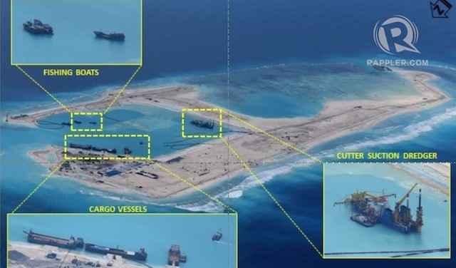 recuperacion por China del arrecife de Kagitingan en el Mar del Oeste de Filipinas