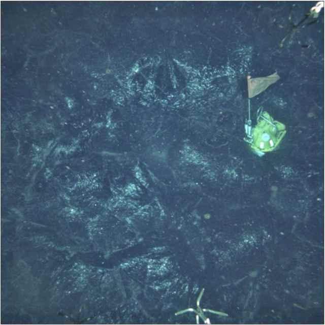 sismómetro en el fondo marino