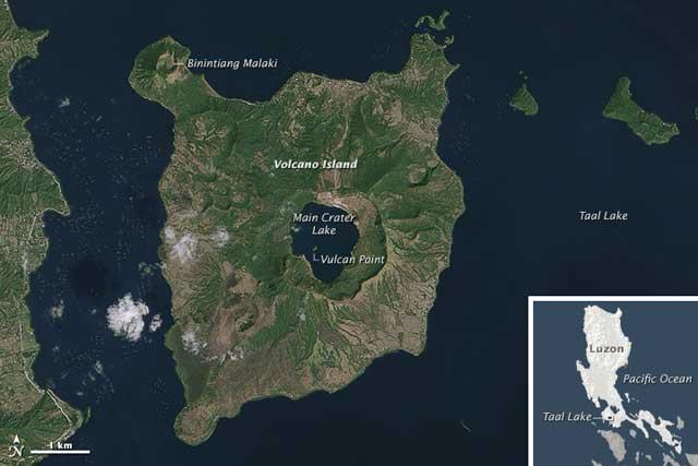 Isla del Volcán Taal, Filipinas