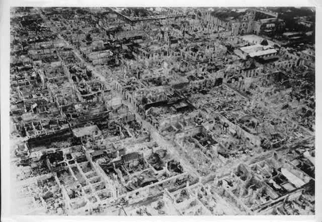 ruinas de Intramuros, Manila - 1945