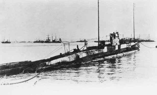 U-Boot alemán de la I Guerra Mundial