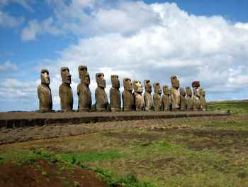 estatuas gigantes de la Isla de Pascua