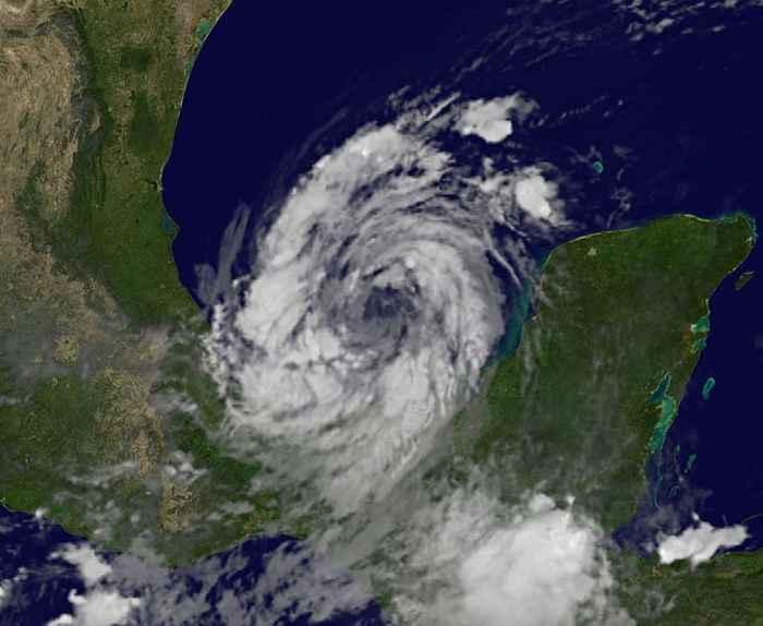 el huracán Nate desde satélite