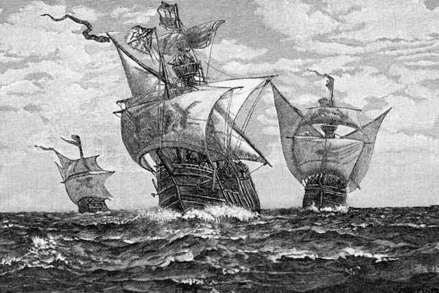 naves del primer viaje de Colón