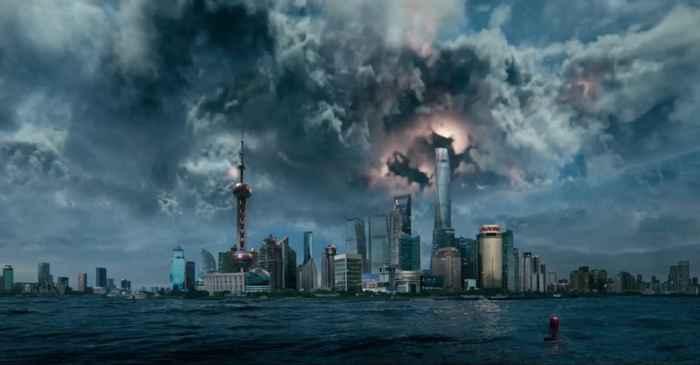 tormenta en la película Geostorm