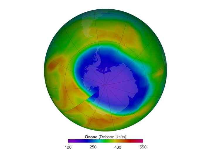 mínima extensión del agujero de ozono 2017