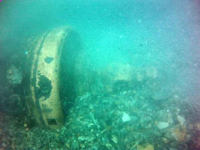 cañón de bronce del naufragio de Florida