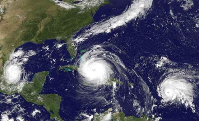 huracanes Harvey, Jose y Katia