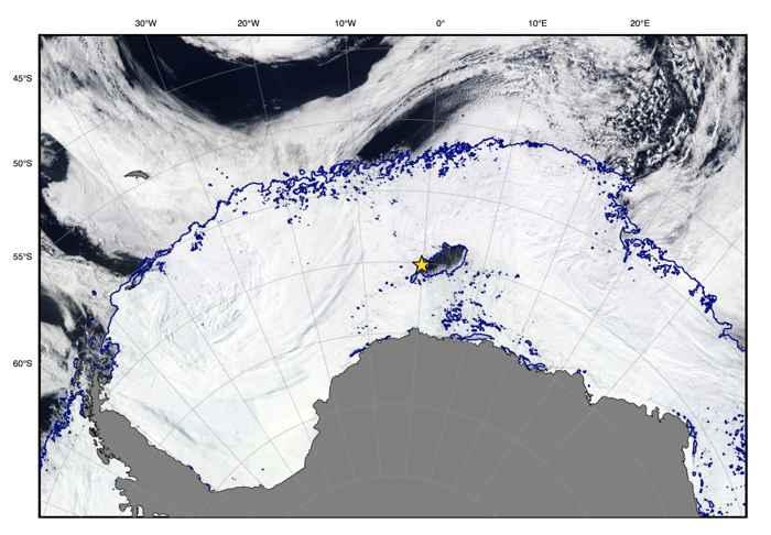 imagen SOCCOM del.agujero en el hielo de la Antártida