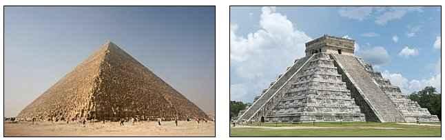 pirámides egipcia y maya