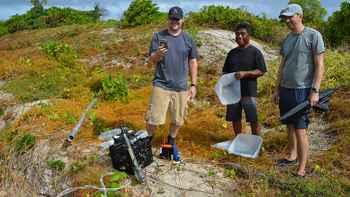 recolección pruebas radiactivas en las Islas Marshall