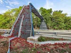 puente para cangrejos en la isla Navidad